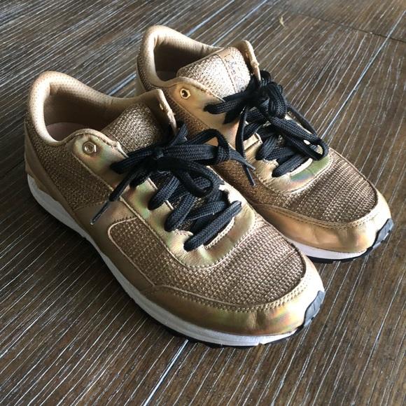 Sam Edelman Shoes - Sam Edelman Gold Sneakers 8